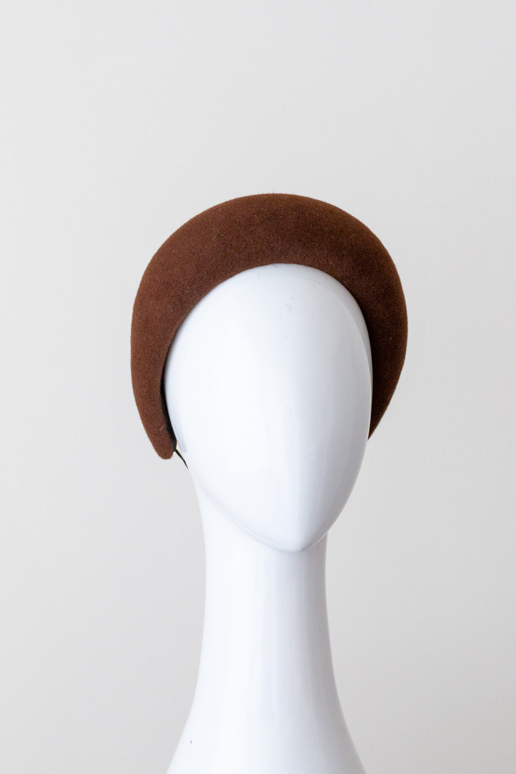 Rich Brown Halo Headband by Felicity Northeast Millinery
