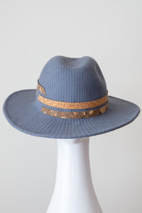 PORTO FEDORA-Grey felt fedora with cork band