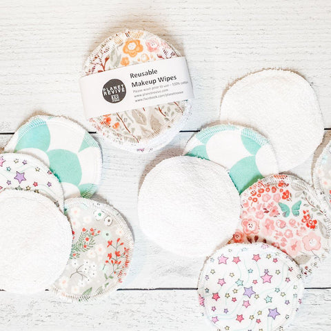 REUSABLE FACIAL COTTON ROUNDS | MIXED PRINT | 10 PADS
