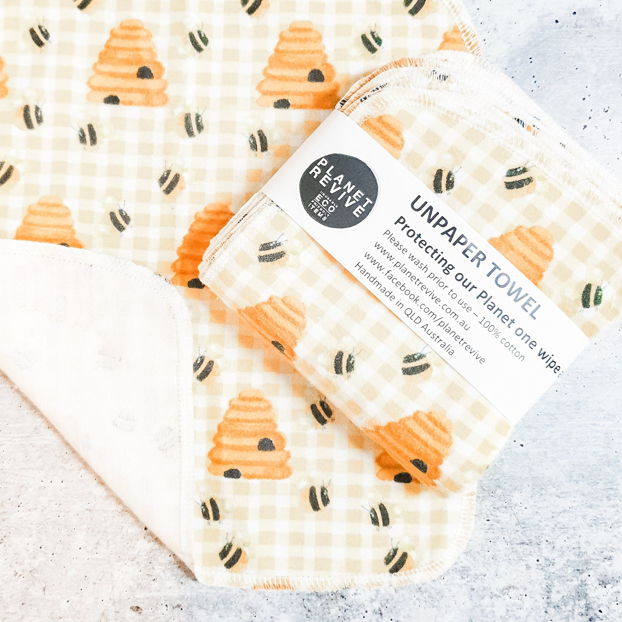 UNPAPER TOWELS | HONEY BEE | 8 PACK