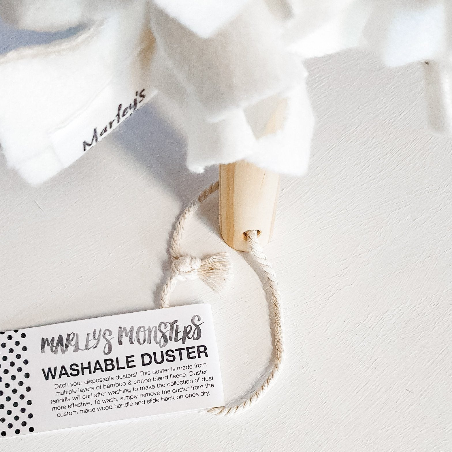 WASHABLE DUSTER | BAMBOO FLEECE | REUSABLE