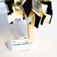WASHABLE DUSTER | VINTAGE LEMONS | REUSABLE