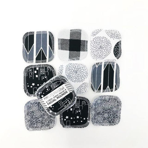 20 REUSABLE COTTON PADS | MONOCHROME