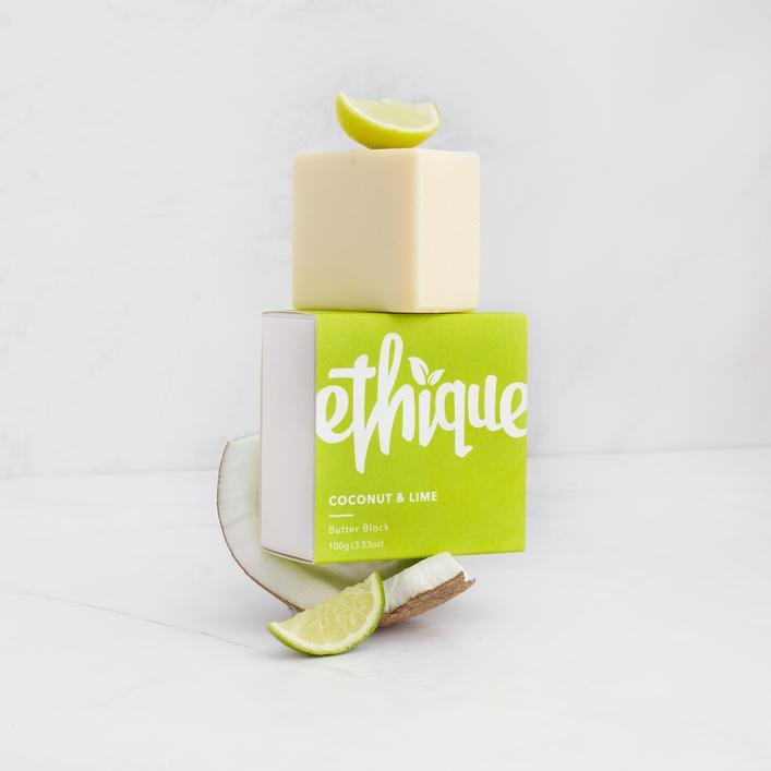 ETHIQUE BODY BUTTER BLOCK COCONUT & LIME 100G