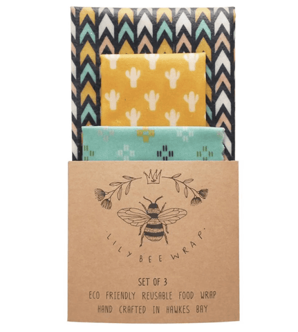 "BEES WAX FOOD WRAP | SET OF 3 ""Desert Road"" 