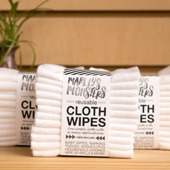 12 CLOTH WIPES | WHITE COTTON
