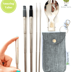 COLLAPSIBLE STRAW & SPORK KIT