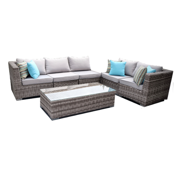 Phenomenal Monarch 5 Seat Sectional And Coffee Table Bralicious Painted Fabric Chair Ideas Braliciousco