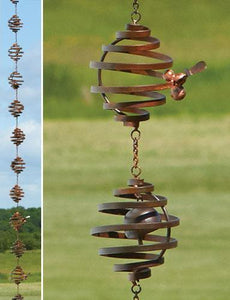 Bee Hive Spiral Rain Chain - Wind Chime Fun