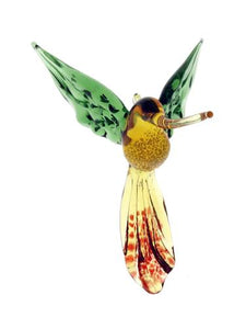 Handcrafted Glass Hummingbird Suncatcher - Wind Chime Fun