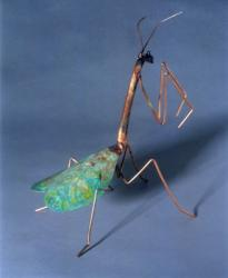 Copper Praying Mantis   Garden Stake- 2 Sizes Available - Wind Chime Fun