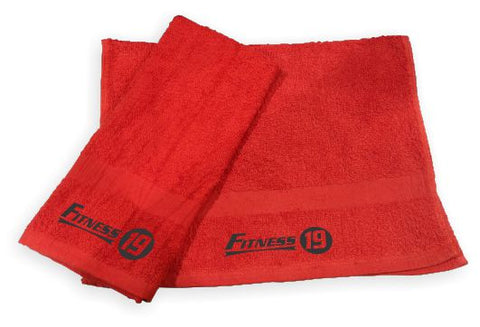 RED TOWEL - BLACK INK