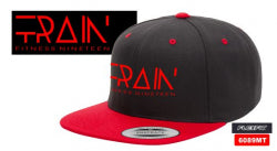 FITNESS19 TRAIN HAT - BLACK WITH RED BILL