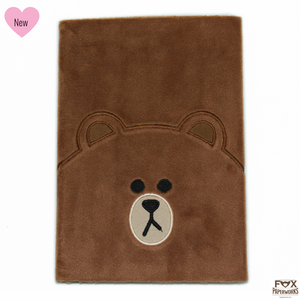 LINE FRIENDS BROWN BEAR PLUSH NOTEBOOK FOX PAPERWORKS