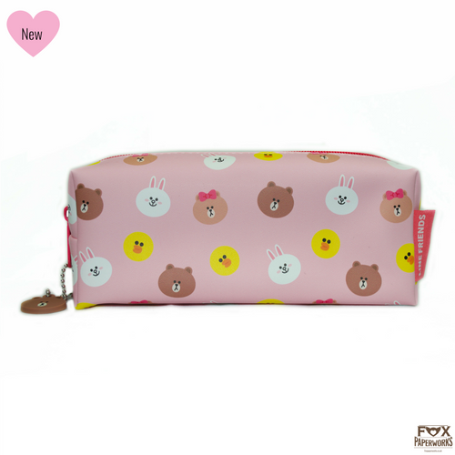 CUTE PENCIL CASE FOR TEENS FOX PAPERWORKS LINE FRIENDS