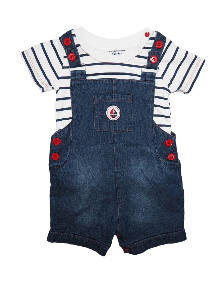 Sail Denim Coveralls + Striped Tee