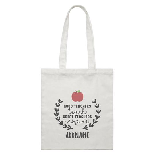 Great Teachers Inspire Customizable Canvas Bag