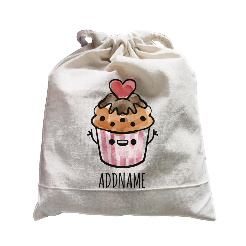 Watercolour cartoon cupcake Satchel