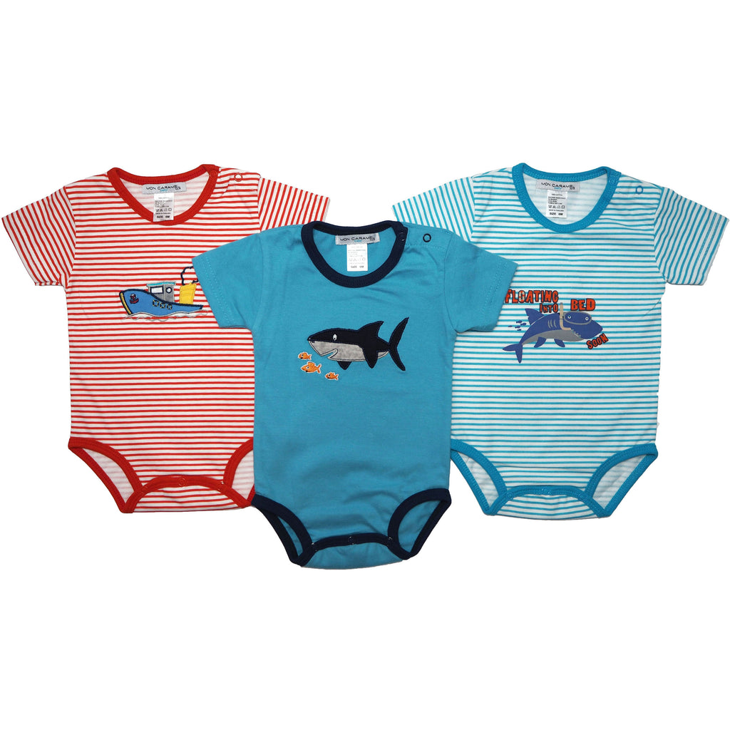 3 Piece Romper  - Baby Shark