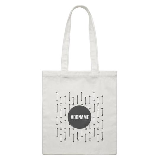 Monochrome Arrows Canvas Bag