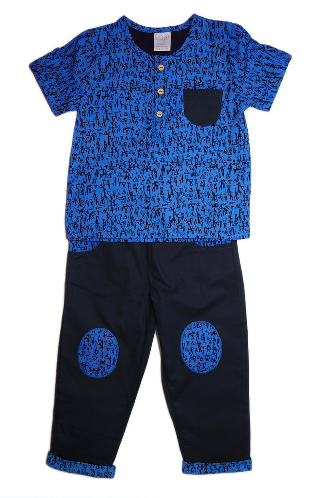 Cotton Shirt and Pants Set - Little Blueprints