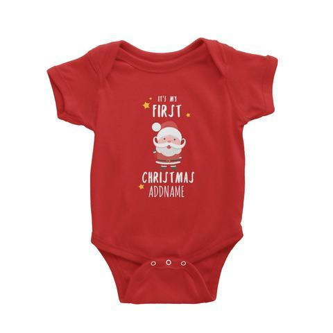Customized Santa First Christmas Romper