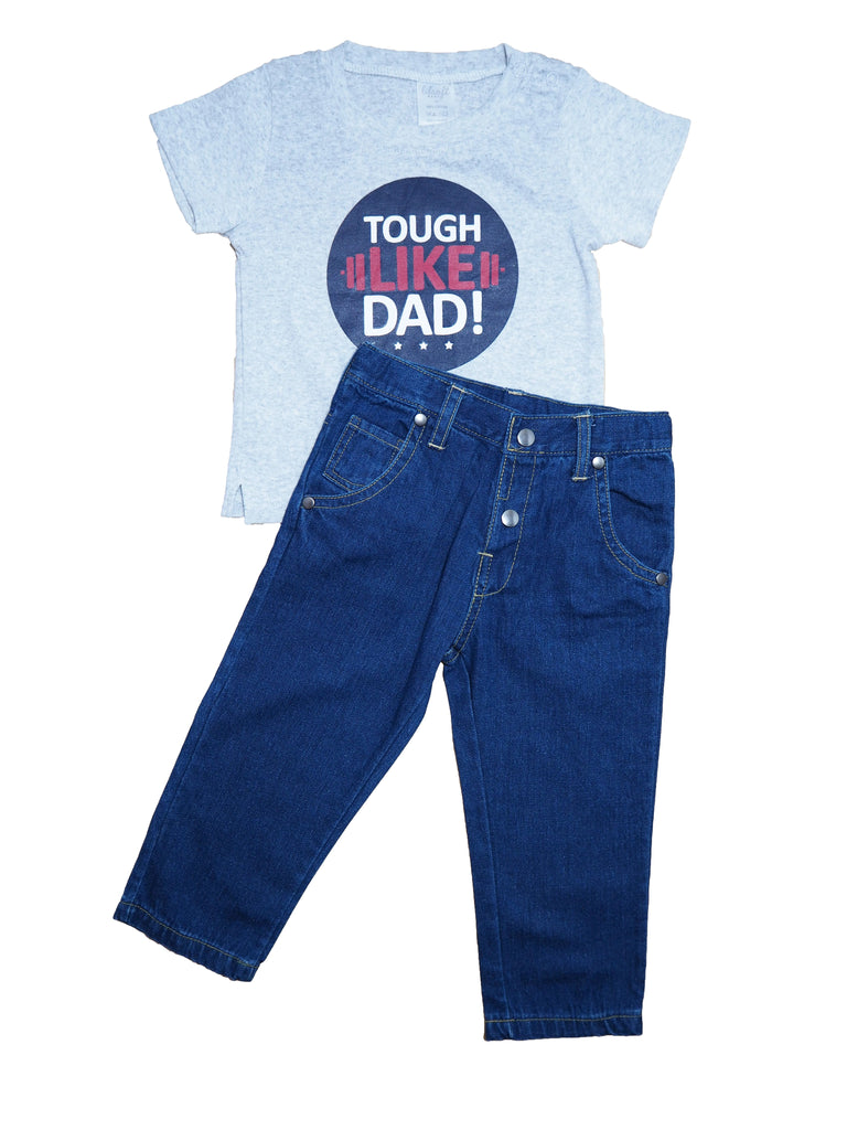 Tough like Dad!- Shirt and Jeans 2 Piece Set