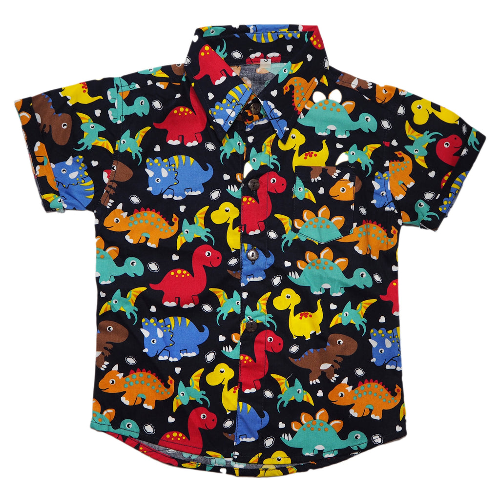 Dinosaur Party Button Down Shirt