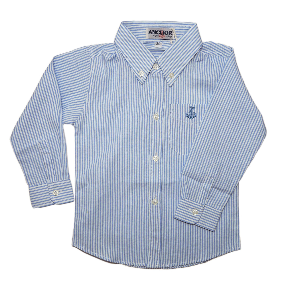 Light Blue Striped Long Sleeved Shirt