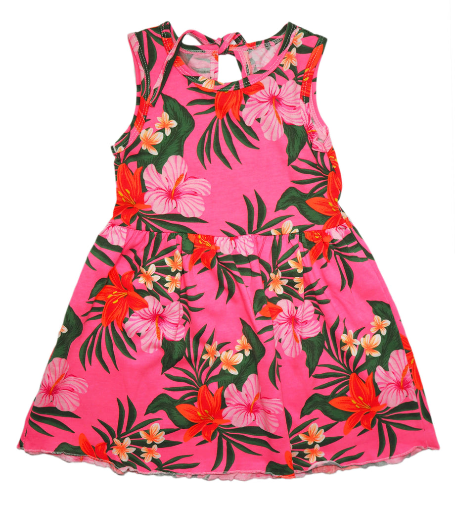 Tropical Splash Dress -  Hot Pink