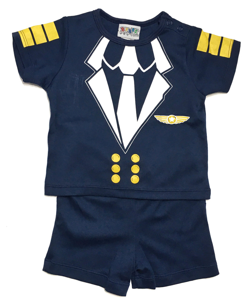 2 Piece Pilot Suit - Navy Blue