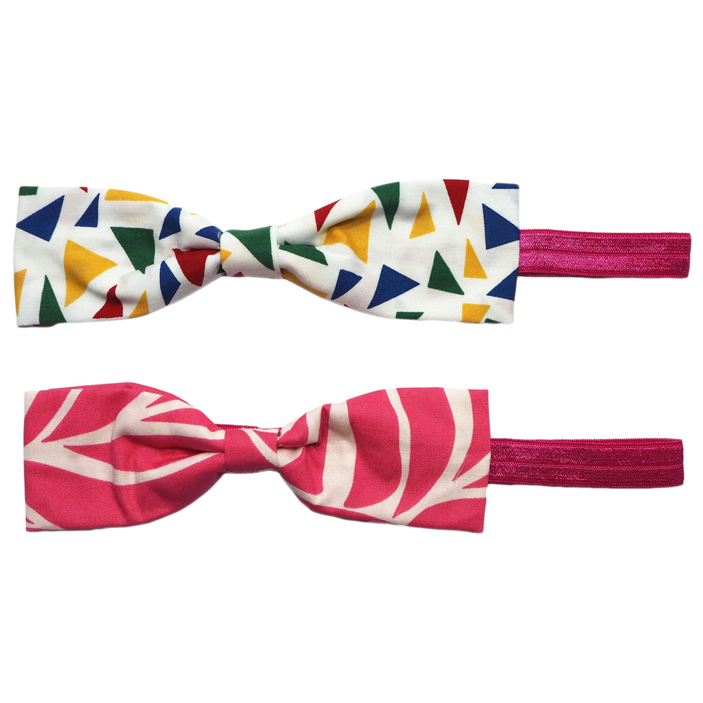 Retro Prints Cloth Bow Headbands