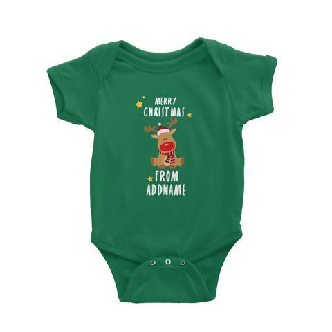 Customized Rudolf Greeting Romper
