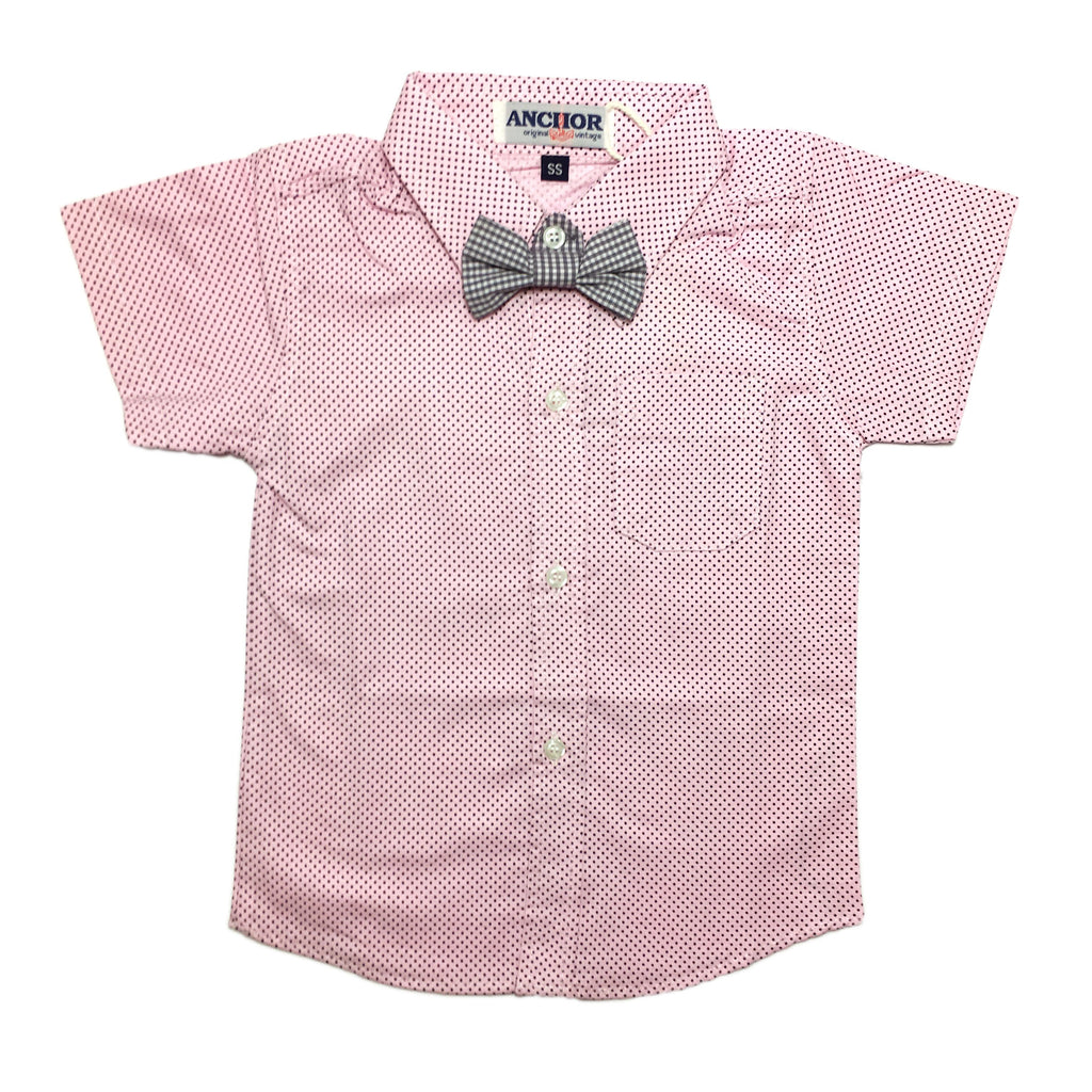 Pink Polka Button Down Shirt