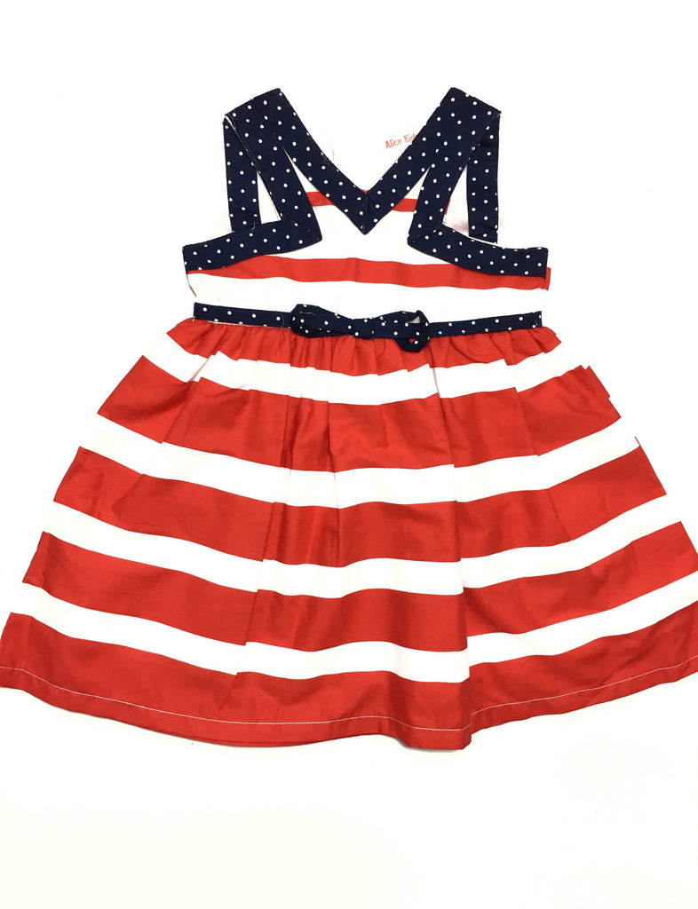 Red and White Nautical Tea Dress with cut in detail