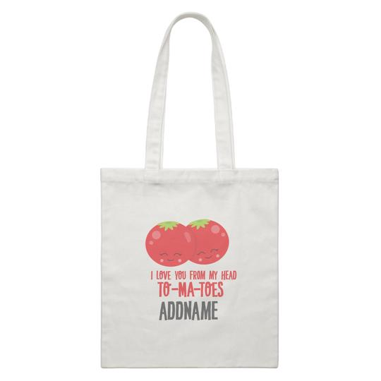 I love you from my head TOMATOES Canvas Bag