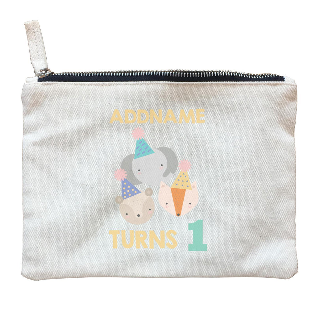 It's My Birthday Safari Theme Zipper Pouch