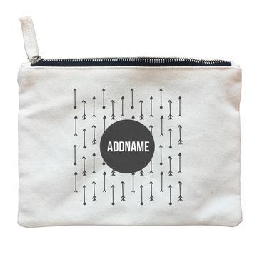Monochrome Arrows Zipper Pouch