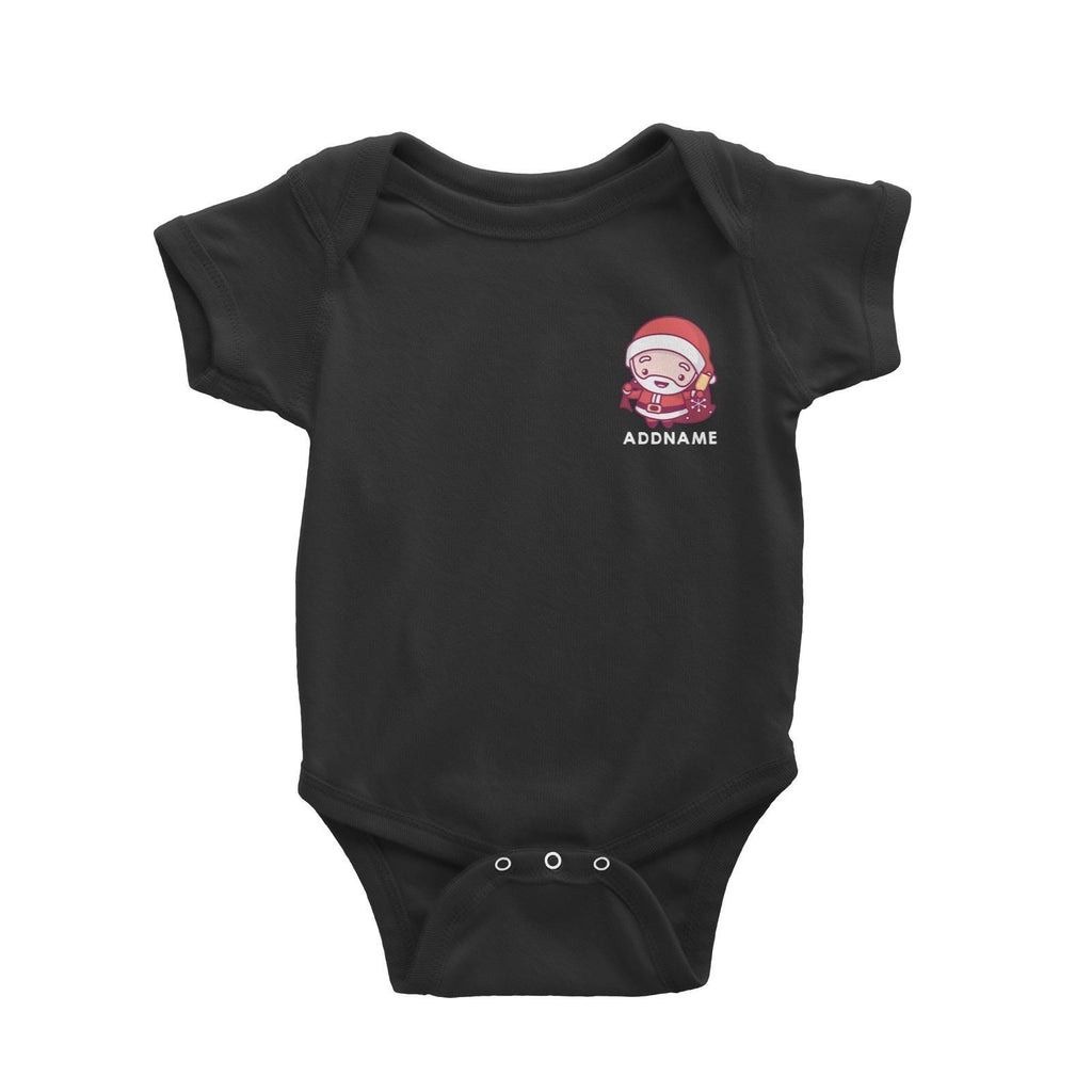 Pocket Jolly Santa  Customizable Romper
