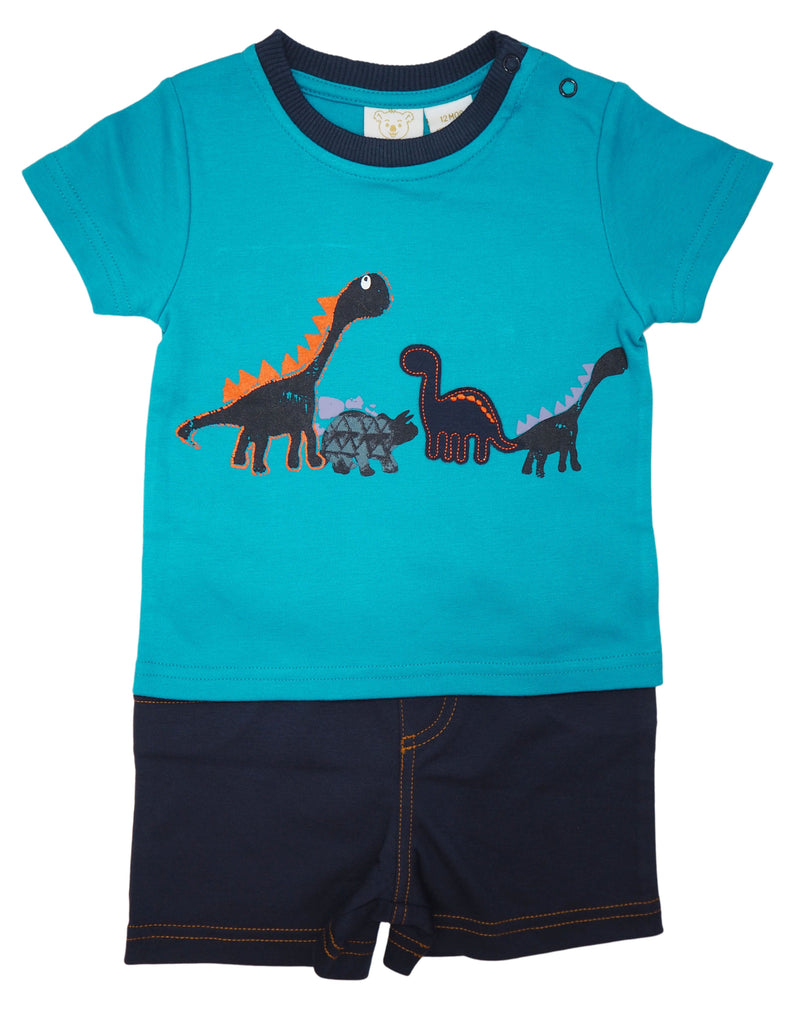 Blue Dinosaur - Shirt Shorts Set