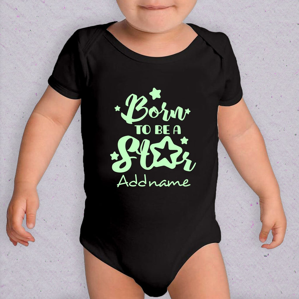 Born to be a Star Glow in the Dark Customizable Romper