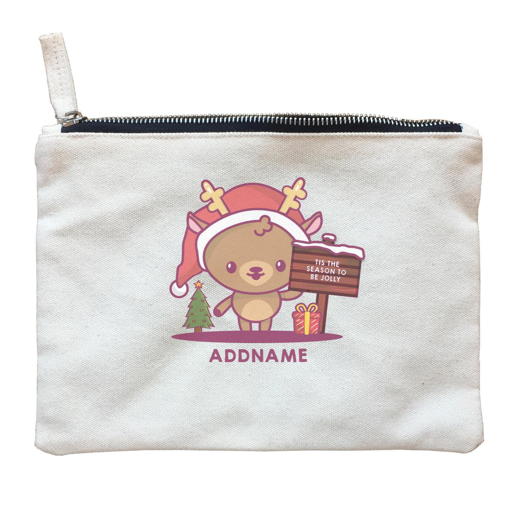 Jolly Reindeer Zipper Pouch