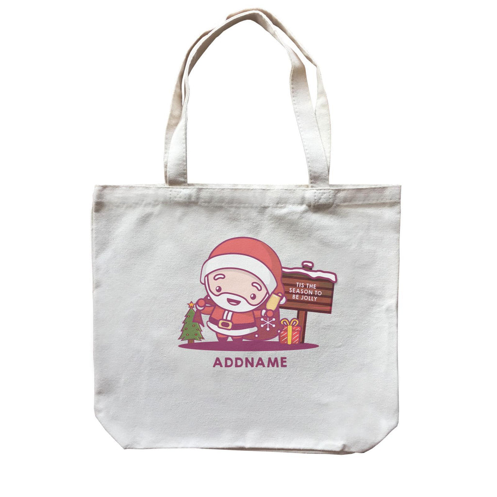Jolly Santa Canvas Bags
