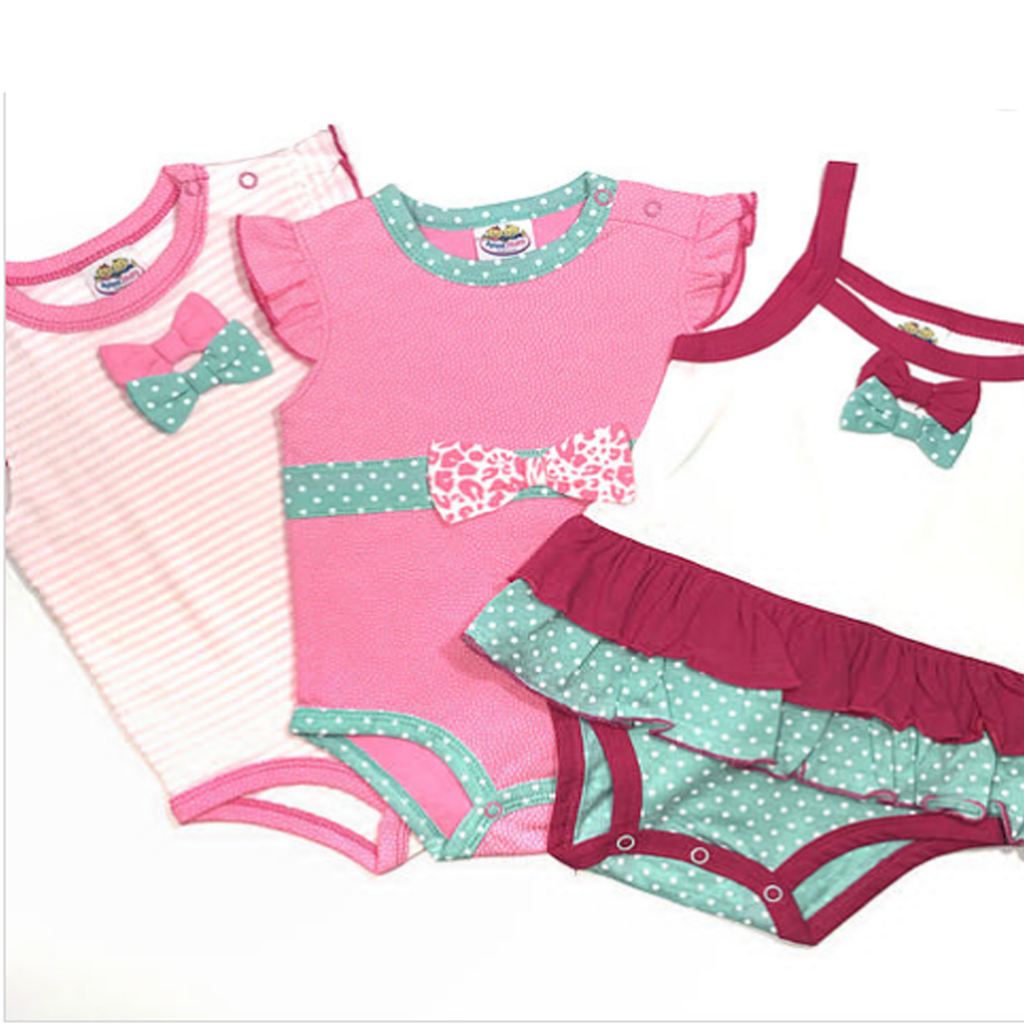 Hot Pink Ribbon Romper -3 Piece Set