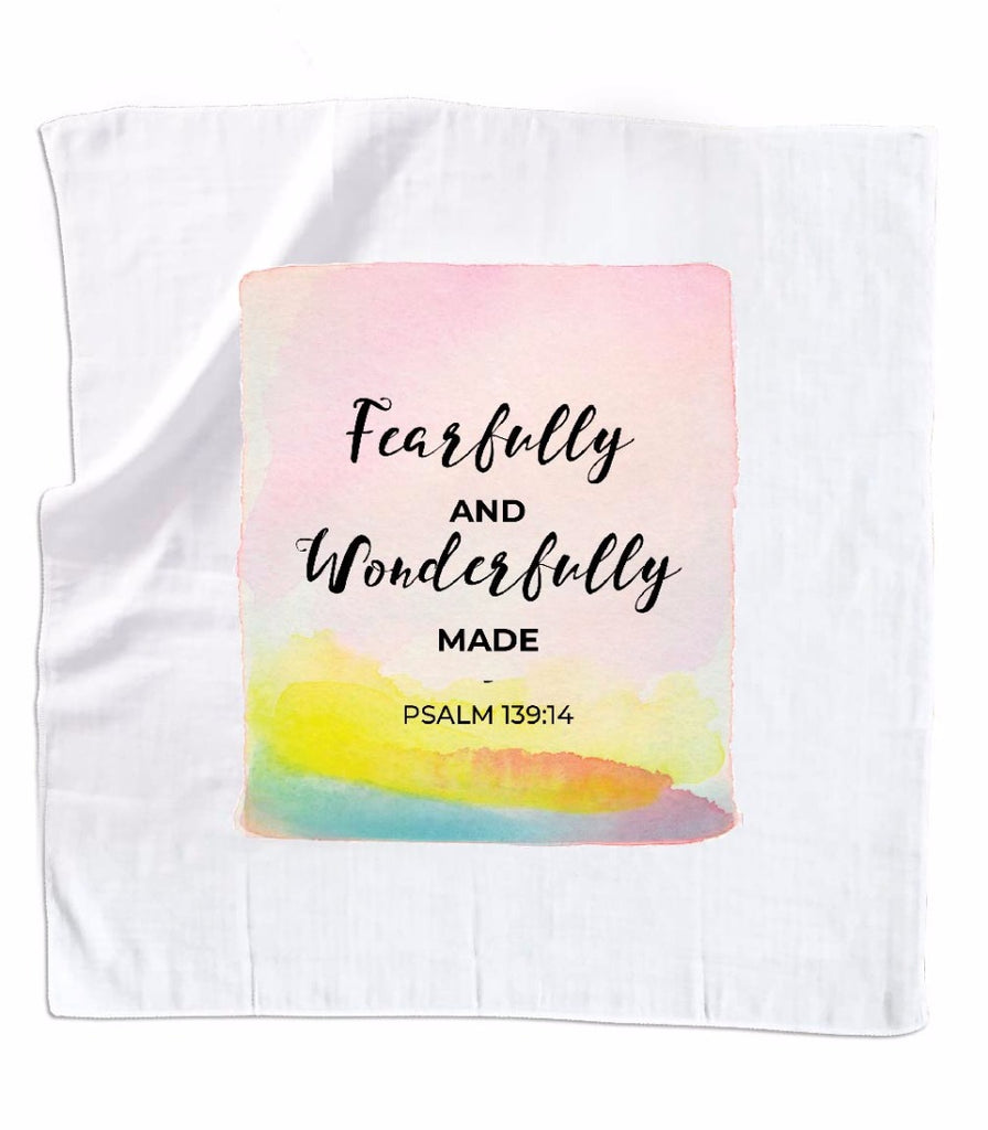 Fearfully & Wonderfully Made- Muslin Swaddle