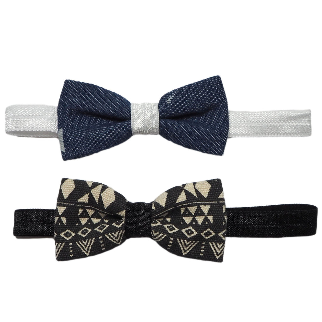 Little Bow Headbands - Tribal & Denim