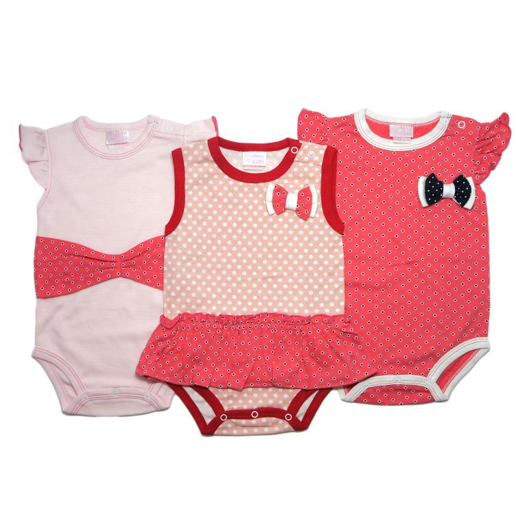 Little Bow Romper -3 Piece Set