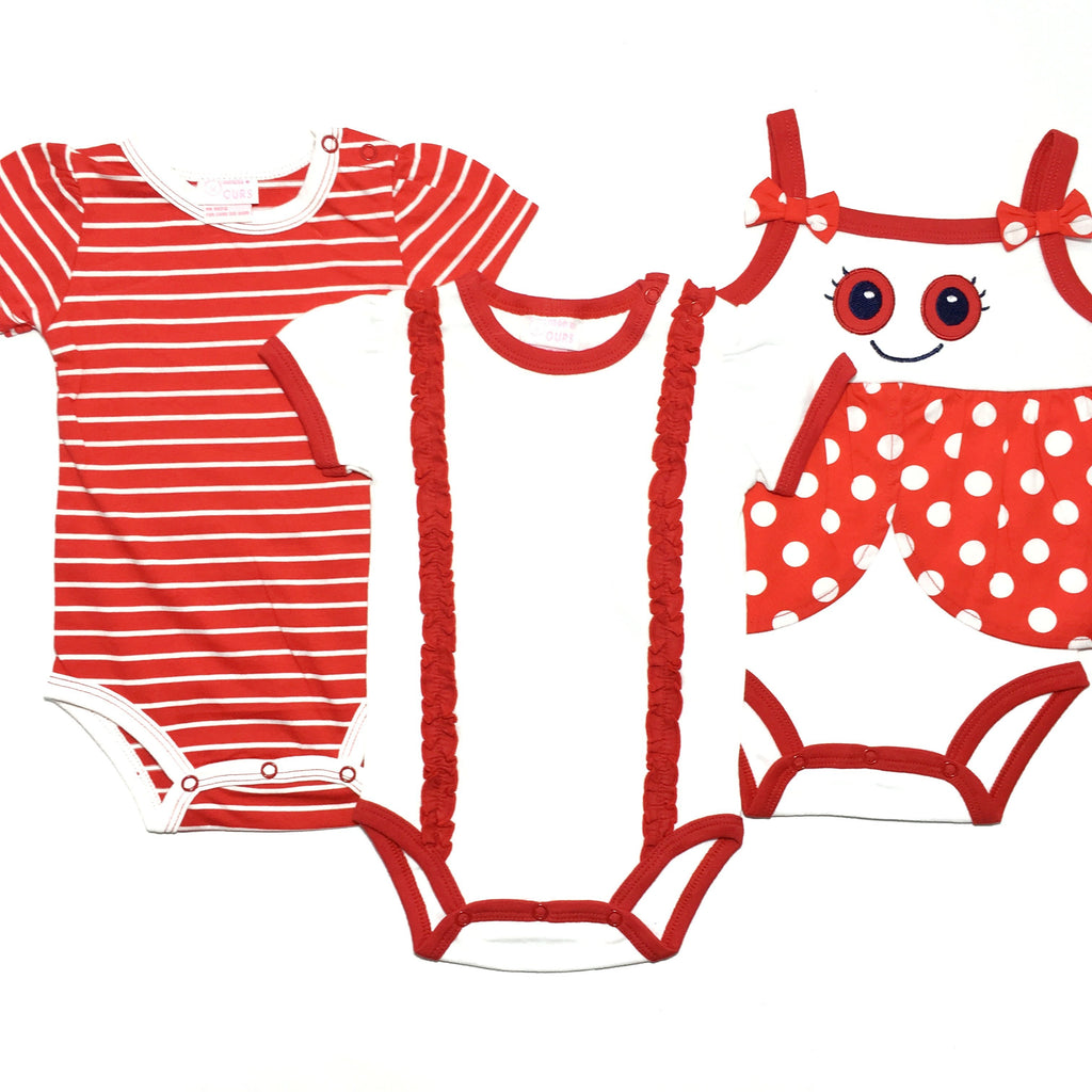 Little Red LadyBug Romper -3 Piece Set