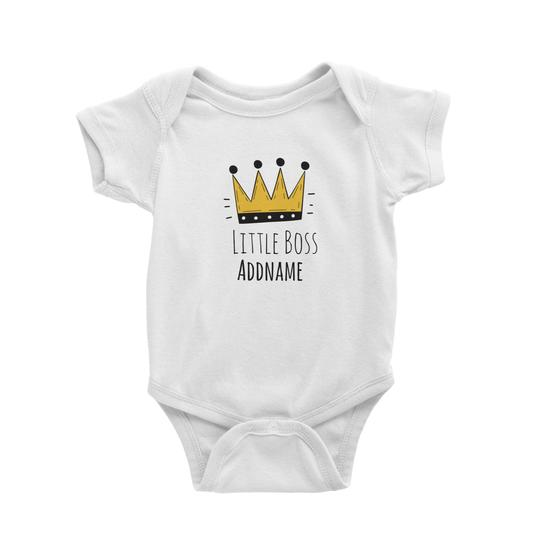 Little Boss Crown Customizable Romper