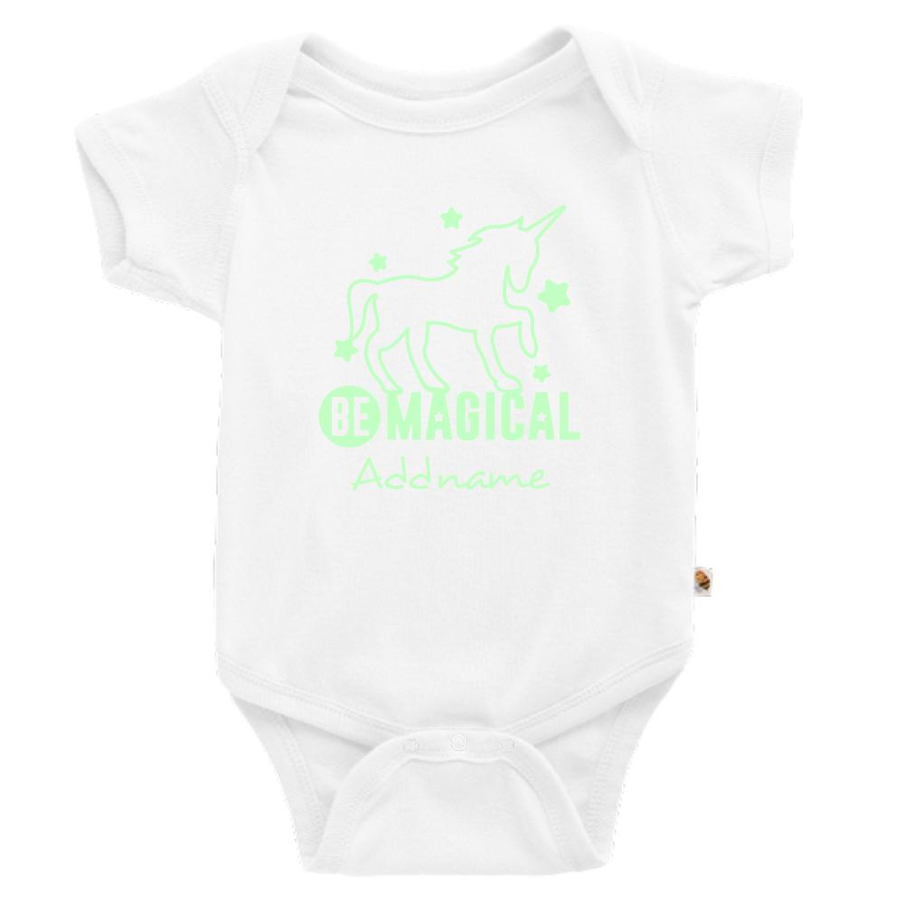 Magical Unicorn Glow in the Dark Customizable Romper